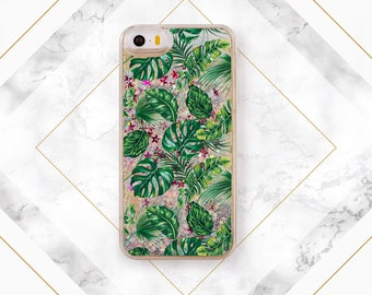 Phone case green iPhone case leaves Phone case leaf Floral skin iPhone case nature Green leaves Tropical laves iPhone case tropical SGG_081