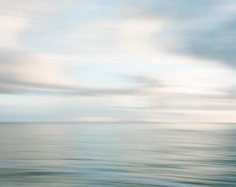 Oregon Beach Photography - Abstract Photo - Beach Photo - Oregon - Sunset - Fine Art Photograph - Oregon Coast - Teal Pink Blue Home Decor
