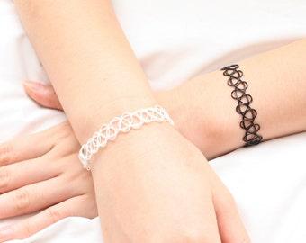 Tattoo Bracelet, Elastic Bracelet, Plastic Bracelet, Adjustable Bracelet, Simple Bracelet, Cute Bracelet, Everyday Bracelet, Womens Bracelet