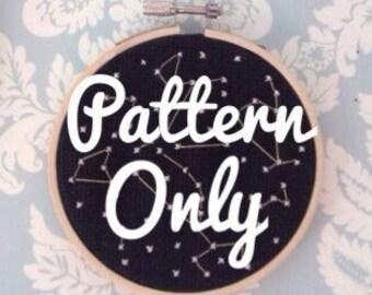 Mini Constellation Cross Stitch Pattern