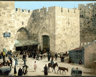Poster, Many Sizes Available; Jaffa Gate Around 1900
