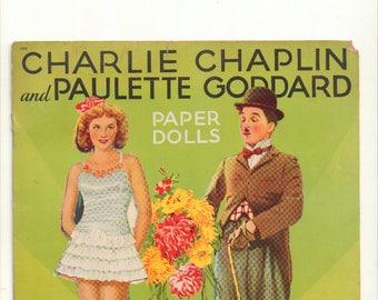 Vintage Paper Dolls 'Charlie Chaplin and Paulette Goddard' Book