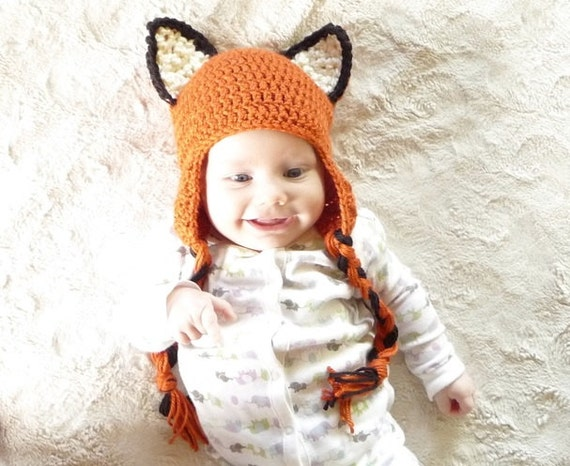 Crochet Fox Hat Crochet Pattern Crochet Earflap Hat Pattern Crochet