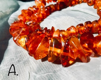 Authentic and Marvelous Polished Baltic Amber Necklace