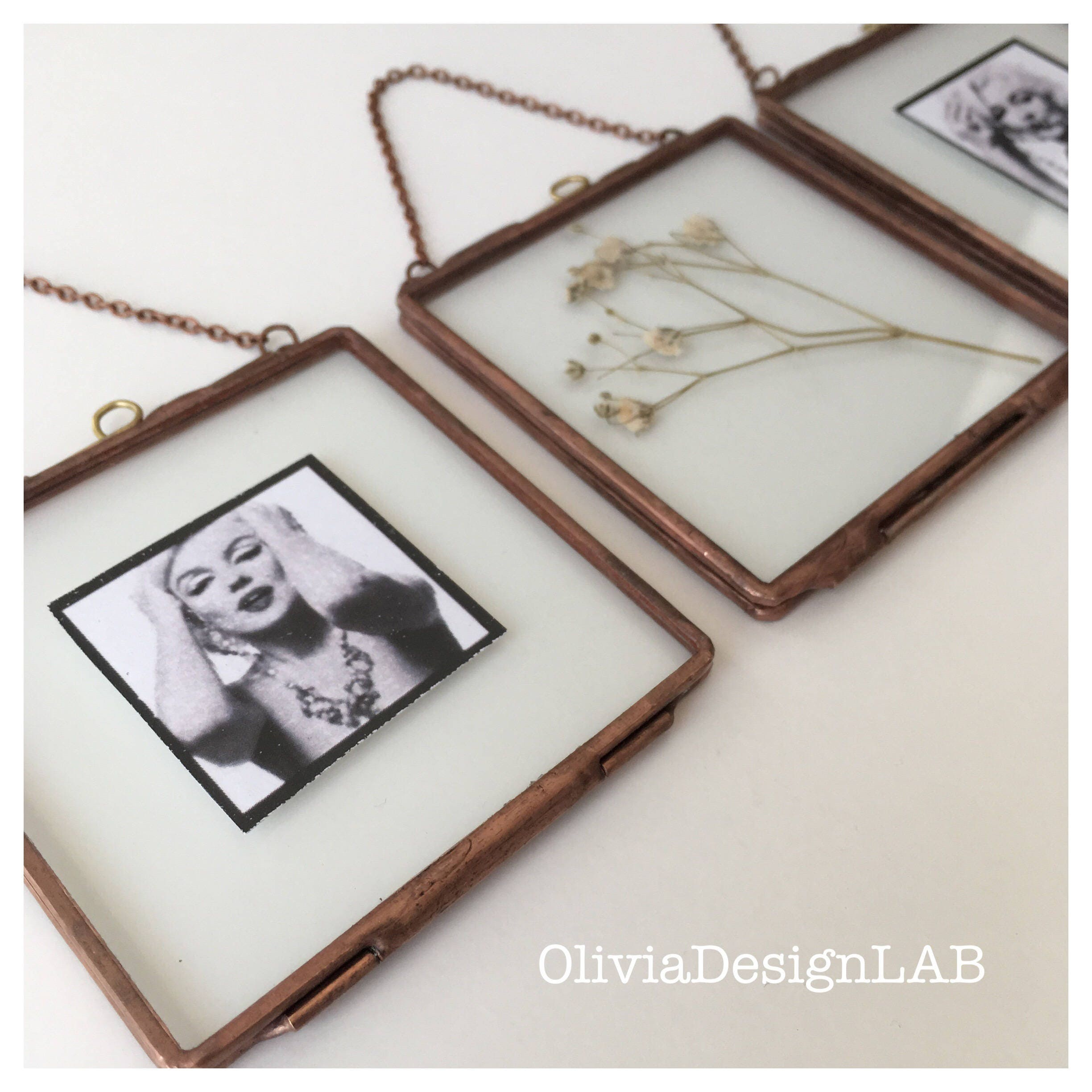 Glass frame, wedding favors, little glass frame with closures for ...