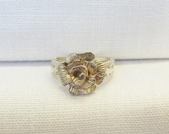 Vintage Silver Rose Ring