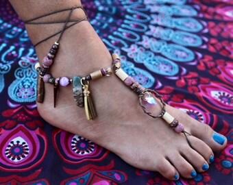 Pink heart Barefoot Sandals
