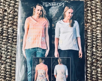 Sew Liberated #125 Women's Sewing Pattern for The Penelope Sophisticated T-Shirt Top Knit or woven and Suitable for All Seasons Hi-Lo New