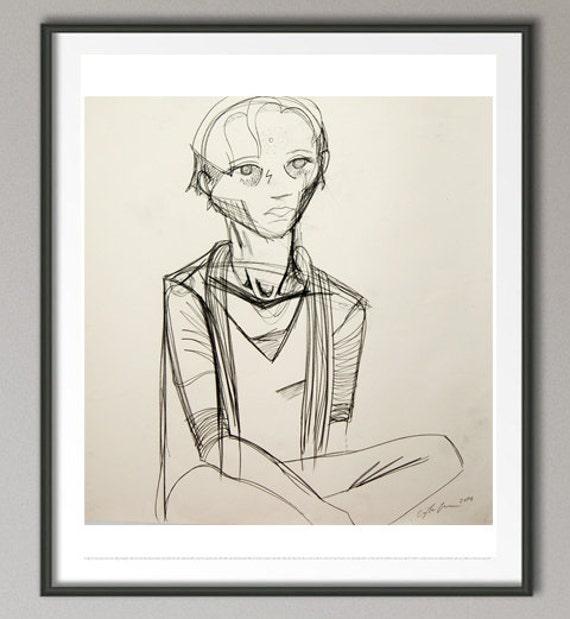 "Drawing - ""Meditation"""