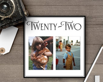 Photo Table Numbers / Photo Wedding Table Numbers / Table Numbers / Table Number Cards / Childhood Photos / Retro / Old Pictures - tn0013