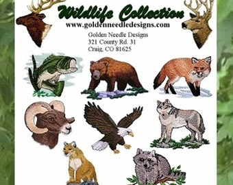 Wildlife Collection- Machine Embroidery Designs