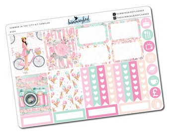 Summer in the City Kit Sampler | KS04 | Planner Stickers for Erin Condren Vertical Planners - Physical Item | The Hummingbird Planner