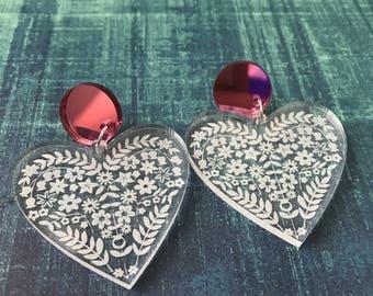 Not For The Folk Hearted Dangle Earrings