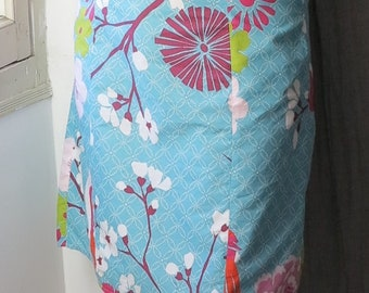 """Skirt 50s cotton sections """"Turquoise Passion"""" T XS/S"""