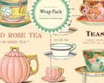 Cavallini & Co Vintage tea party Gift Wrap Pack