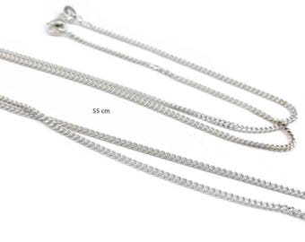 1 x Sterling silver 925 curb chain - 55 cm