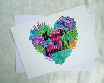 CARD - Thanks a Bunch Succulents