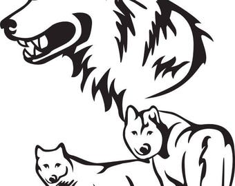 WOLF PACK SVG