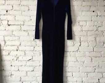 1980's Blue Velvet Jumper