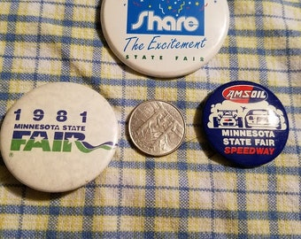 Vintage Minnesota State Fair buttons