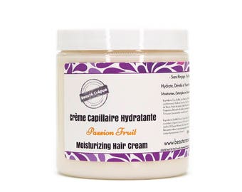 Moisturizing Hair Cream - Passion Fruit - with mango butter, sweet almond and jojoba oils - 250ml
