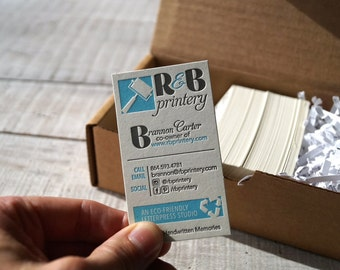 Eco-friendly Letterpress Business Cards {Your logo and branding}