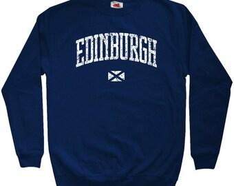 Edinburgh Sweatshirt - Men S M L XL 2x 3x - Crewneck Edinburgh Scotland Shirt - Scottish - 4 Colors