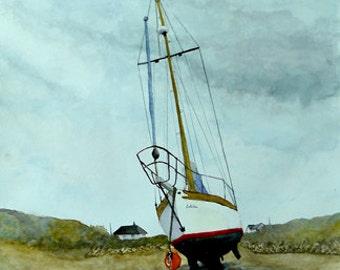 Safe Harbour. Irish Art, limited edition print. From Watercolour original. Ireland.