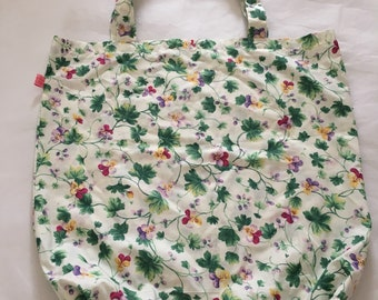 market bag, flowers, shopping bag, grocery bag, gift , Mother's Day , reusable bag