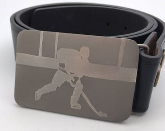 Hockey belt buckle titanium buckle nhl belt metal belt buckle silver buckle gift for men Father's Day gift personal gift for him werewolf