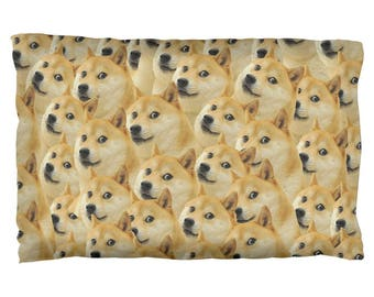 Doge Meme Funny Pillow Case