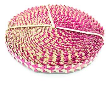 Pink Lauhala ric rac roll