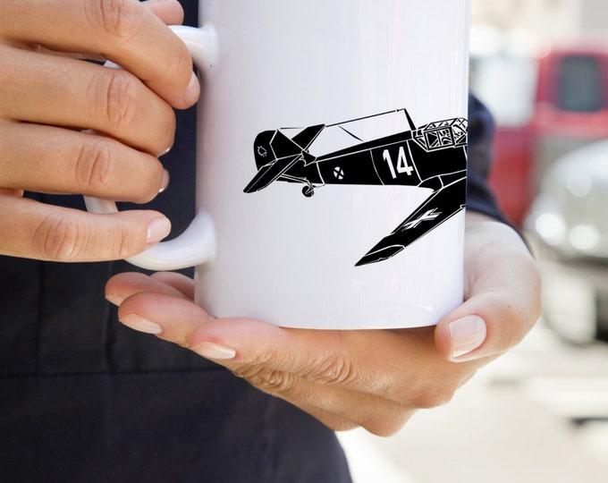 KillerBeeMoto:   Coffee Mug Messerschmitt Bf 109 Fighter Plane Coffee Mug (White)