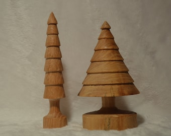 Christmas trees (oak and cherry)