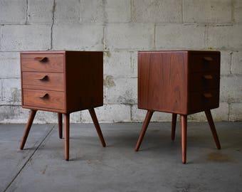 Mid Century Modern styled TEAK NIGHTSTANDS end tables