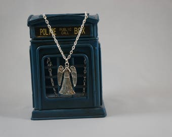 Weeping Angels Pendant Necklace