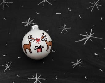 Reindeer Expecting/Pregnant Ornament