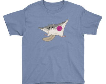 Lollipop Getaway (Flying Squirrel ) Youth Short Sleeve T-Shirt