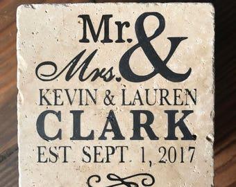 Custom Wedding Coasters