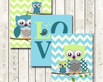 Nursery Wall Art, Nursery Decor Boy, Owls, You Are My Sunshine, Nursery Wall Art, Baby's Room Decor, Wall Art, Instant Download