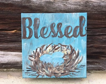 Blessed Nest painting on canvas