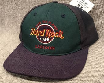 Hard Rock Cafe London Hat Save The Planet SnapBack Love Serve Authentic Cap 1725