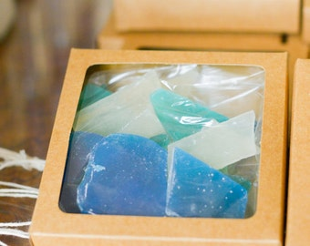 Edible Sea Glass // Ready to ship! // Wedding Favor // Hard Candy