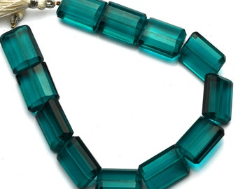 "Green Apatite Color Hydro Quartz Facet 14x18MM Approx. Nugget Shape Beads 9"" Full Strand Super Fine Quality Beads"