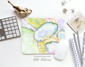 Marbled Mousepad Marble Mousepad Print Mouse Mat Mouse Pad Office Mousemat Rectangular Mousemat Agate Marble Print Mousepad Round 67.
