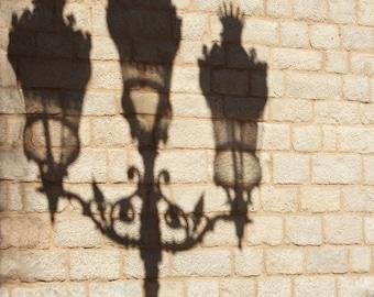 Shadow Play, Minimalist, Streetlight print, street photography, Shadow photo, Barcelona, Fine Art photography