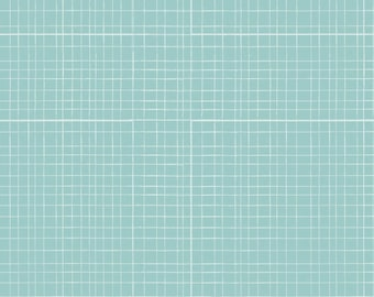 Baby bed skirt, baby bedding, crib skirt, aqua (blue) grid