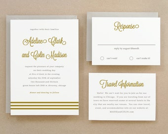 Printable Wedding Invitation Template | INSTANT DOWNLOAD | Gold Script | Word or Pages | Easy DIY | Editable Artwork Colors