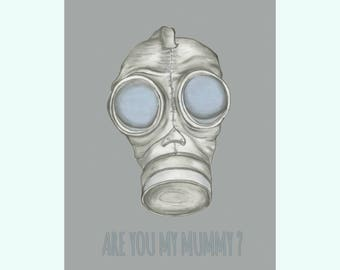 Are You My Mummy? Doctor Who 5 x 7 Art Print created by: Mollie Roth
