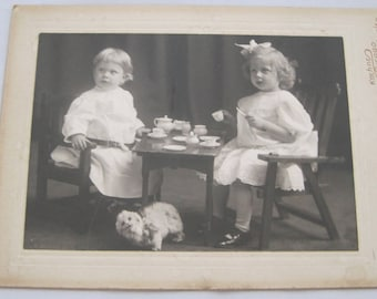Tea Party Cabinet Card